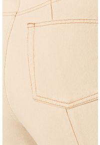 Kremowy jeansy loose fit ANSWEAR w kolorowe wzory, z podwyższonym stanem