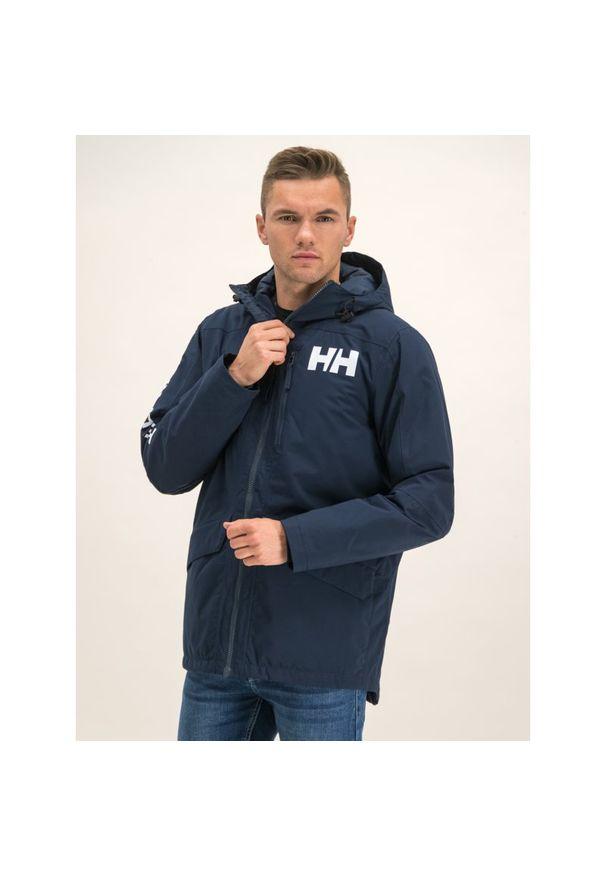 Niebieska kurtka puchowa Helly Hansen