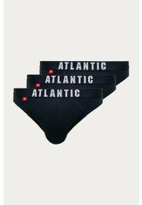 Niebieskie majtki Atlantic z nadrukiem