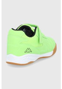 Zielone buty sportowe Kappa z cholewką, z okrągłym noskiem, na rzepy