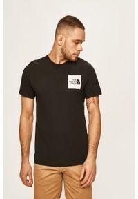 Czarny t-shirt The North Face z nadrukiem, na co dzień, casualowy