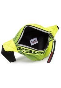 Tommy Jeans - Saszetka nerka TOMMY JEANS - Tjw Mini Logo Bumbag Reflect AW0AW09737 Żółty. Kolor: żółty. Materiał: materiał