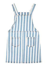Niebieska sukienka Guess prosta, casualowa, na co dzień