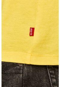 Żółty t-shirt Levi's® z okrągłym kołnierzem, z nadrukiem, na spotkanie biznesowe, biznesowy