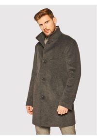 Szary płaszcz przejściowy Oscar Jacobson