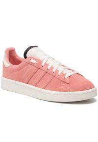 Różowe półbuty Adidas casualowe, na co dzień, z cholewką