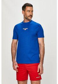 Polo Ralph Lauren - T-shirt. Okazja: na co dzień. Typ kołnierza: polo. Kolor: niebieski. Materiał: dzianina. Wzór: gładki. Styl: casual
