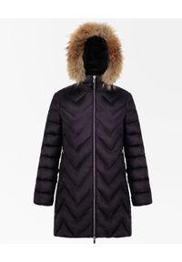 Hetrego - HETREGO - Czarny płaszcz puchowy Evette. Kolor: czarny. Materiał: puch. Styl: sportowy, elegancki #4