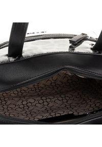 Czarna torebka klasyczna Nobo klasyczna, w kolorowe wzory