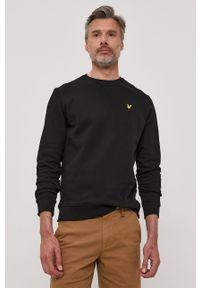 Czarna bluza nierozpinana Lyle & Scott na co dzień, z aplikacjami, casualowa