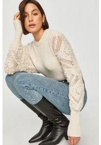 Kremowy sweter Answear Lab wakacyjny, z długim rękawem, na co dzień