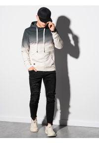 Ombre Clothing - Bluza męska z kapturem B1148 - grafitowa - XXL. Typ kołnierza: kaptur. Kolor: szary. Materiał: bawełna #4