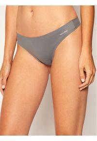 Szare stringi Calvin Klein Underwear