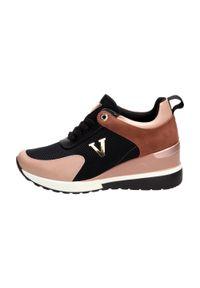 Różowe buty sportowe Vinceza na średnim obcasie, na koturnie