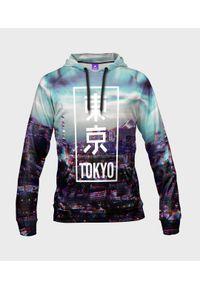 MegaKoszulki - Bluza damska fullprint z kapturem Tokyo glitch. Typ kołnierza: kaptur. Materiał: dresówka, dzianina