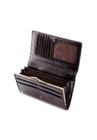 Wittchen - Damski portfel ze skóry lakierowany poziomy. Kolor: czarny. Materiał: lakier, skóra