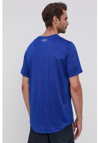 Under Armour - T-shirt. Okazja: na co dzień. Kolor: niebieski. Materiał: dzianina. Styl: casual