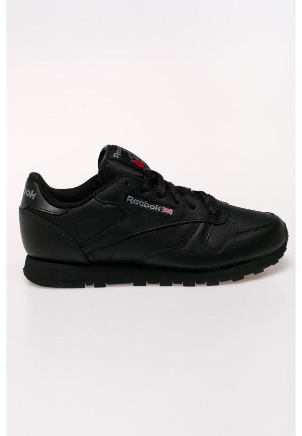 Czarne buty sportowe Reebok na obcasie, z cholewką, na średnim obcasie