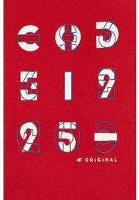 4f - 4F - T-shirt. Kolor: czerwony. Wzór: nadruk