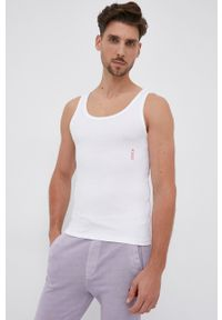 Hugo - T-shirt (2-pack). Kolor: biały. Materiał: dzianina