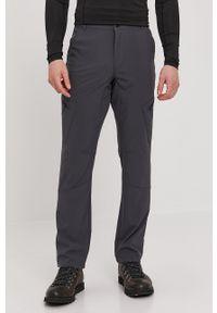 4f - 4F - Spodnie. Kolor: szary. Materiał: włókno, tkanina. Wzór: gładki
