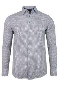 Elegancka koszula TO-ON długa, do pracy, z długim rękawem, w geometryczne wzory