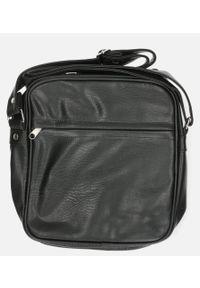Casu - Czarna torba męska na ramię casu jk2012a. Kolor: czarny
