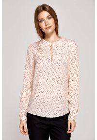 Różowa bluzka z długim rękawem Nife wizytowa