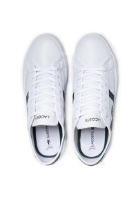 Lacoste - Sneakersy LACOSTE - Sideline 0721 1 Cma 7-41CMA00181R5 Wht/Dk Grn. Kolor: biały. Materiał: skóra, materiał. Szerokość cholewki: normalna