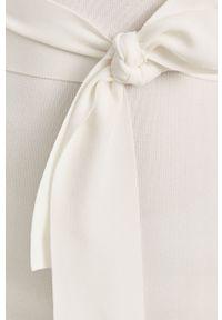 Biała sukienka Guess z krótkim rękawem, gładkie, mini, prosta
