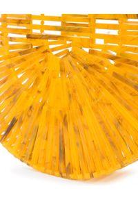 CULT GAIA - Torebka Marigold Small. Kolor: żółty. Materiał: z tłoczeniem. Styl: elegancki, klasyczny