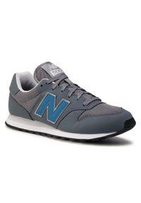 Szare buty sportowe New Balance z cholewką, na co dzień