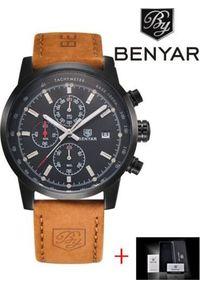 Zegarek BENYAR czarno-czarny (BY5102). Kolor: czarny