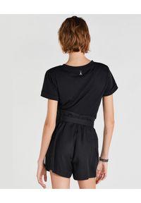Czarny t-shirt Patrizia Pepe rockowy, na lato