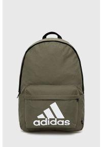 Adidas - adidas - Plecak. Kolor: zielony. Materiał: poliester