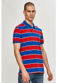 Czerwona koszulka polo Wrangler krótka, na co dzień, polo