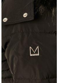 Czarna kurtka Morgan z kapturem, na co dzień, casualowa