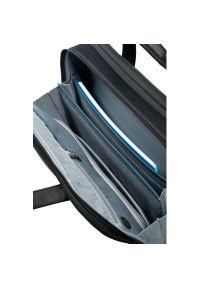 Czarna torba na laptopa Samsonite w kolorowe wzory, biznesowa