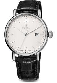 Zegarek Swiza Zegarek męski Alza Gent SST biało-czarny (WAT.0141.1002). Kolor: czarny, biały, wielokolorowy