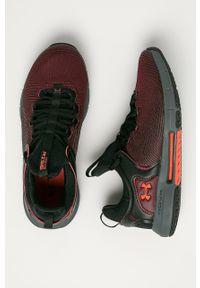 Brązowe buty sportowe Under Armour na sznurówki, z cholewką