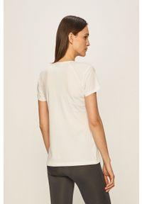 Biała bluzka Craft casualowa, na co dzień, z okrągłym kołnierzem