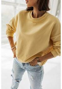 Marsala - Bluza damska bez kaptura kolor BANANOWY- YOUNG BY MARSALA. Typ kołnierza: bez kaptura. Kolor: żółty. Materiał: dzianina, elastan. Sezon: zima, wiosna, lato, jesień. Styl: klasyczny
