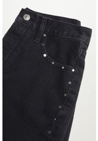 mango - Mango - Szorty jeansowe bawełniane PATY. Okazja: na co dzień. Kolor: szary. Materiał: bawełna, jeans. Styl: casual