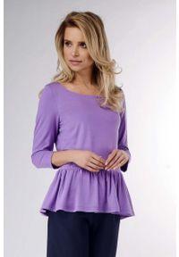 Fioletowa bluzka z długim rękawem Nommo
