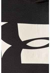 Czarna bluza nierozpinana Under Armour z nadrukiem, na co dzień, z kapturem