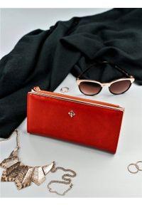 MILANO DESIGN - Portfel damski czerwony Milano Design K1213-ML RED. Kolor: czerwony. Materiał: skóra ekologiczna