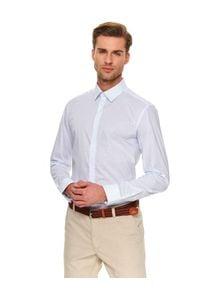 TOP SECRET - Koszula we wzór regular fit. Kolor: biały. Materiał: bawełna. Długość rękawa: długi rękaw. Długość: długie. Sezon: zima. Styl: elegancki
