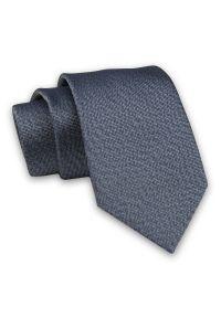 Alties - Popielaty Elegancki Męski Krawat -ALTIES- 7cm, Stylowy, Klasyczny, Jednokolorowy, Melanżowy. Kolor: szary. Materiał: tkanina. Wzór: melanż. Styl: klasyczny, elegancki