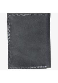 Cedar - Portfel męski czarny. Kolor: czarny