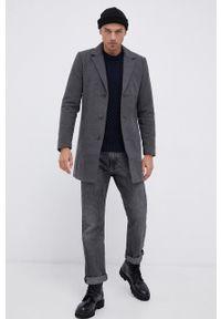 !SOLID - Sweter bawełniany. Okazja: na co dzień. Kolor: niebieski. Materiał: bawełna. Wzór: ze splotem. Styl: casual